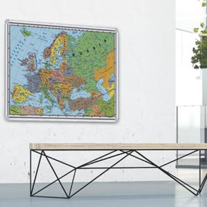 Carte Geografiche su Pannello