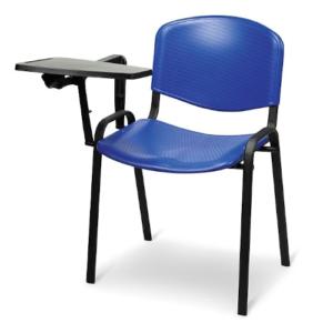 Sedia in Plastica con Scrittoio